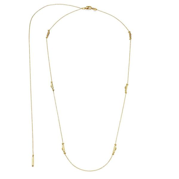 gold chain and capsule clasps necklace