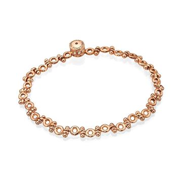 18K Rose Gold Hinged Bracelet with Unique Diamond Lock