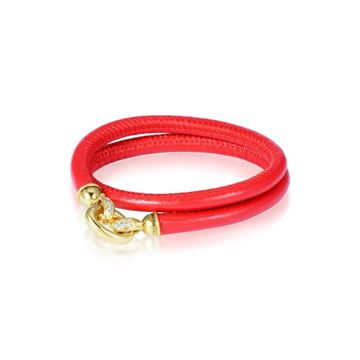 Red Napa Leather Bracelet