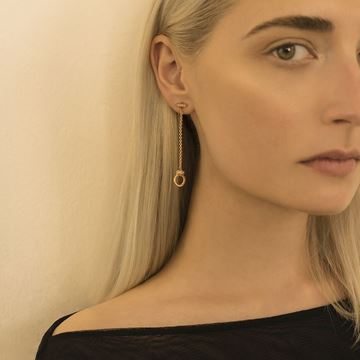 Concept Earrings made of 18K Rose Gold set with Diamonds