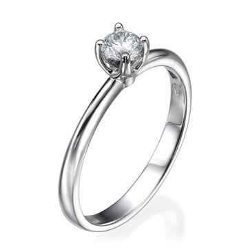 Изображение Four Prong Solitaire Ring 0.30ct