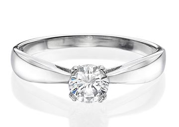 Изображение Cathedral Solitaire Ring 0.30ct