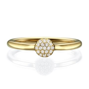 14K Halo Light Ring 0.1 CT TW