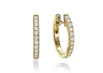Изображение 13x11mm Hoop Earrings 0.20 ct tw in