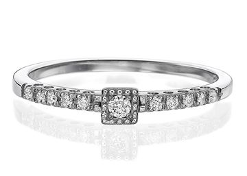 Изображение Engagement Ring Square shape 0.11ctw