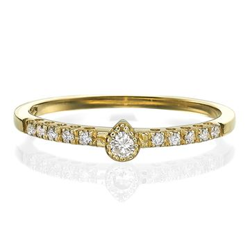 Изображение Engagement Ring Ring-Pear Shape 14K Yellow Gold