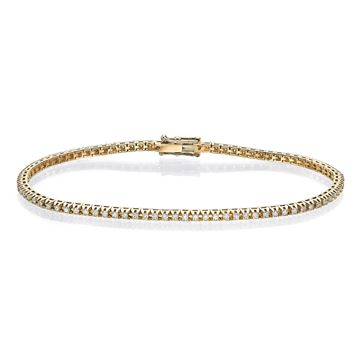 Picture of Diamond Cut Tennis Bracelet