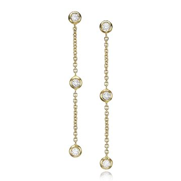 Изображение Diamond Chain Earrings  0.24 CTW