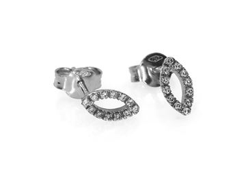 Изображение 18k white gold diamond earrings