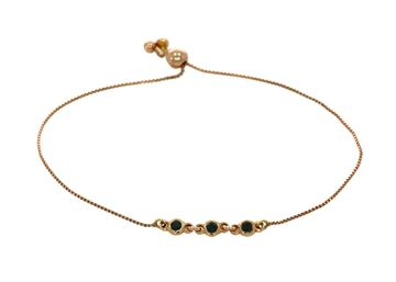 Изображение Rose Gold Bracelet 18k with black Diamonds