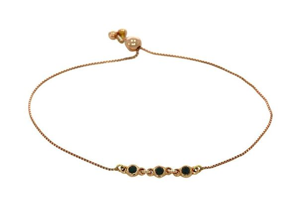 Picture of Rose Gold Bracelet 18k with black Diamonds