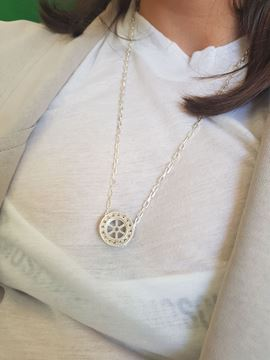 Picture of Wheel Pendant silver Necklace