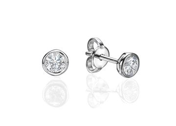 Picture of Bezel Set Earrings 0.2 ct tw