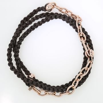 Picture of 18K Rose Gold Chain with cotton Bracelet