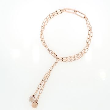 Изображение 18K Rose Gold Square Link Bracelet