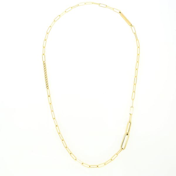 Picture of 18K Yellow Diamond Square Link Chain