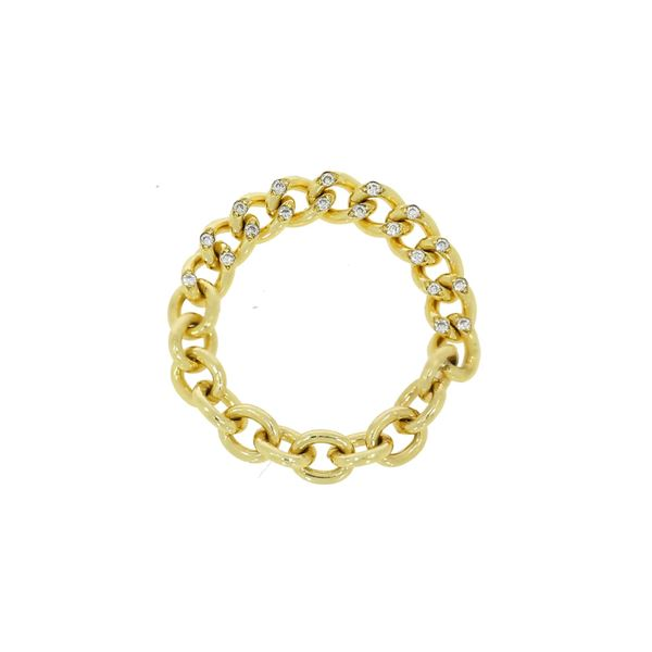 Picture of 18K Yellow Link  Diamond Ring